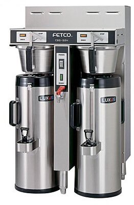fetco dual 2.0 gallon thermal coffee brewer cbs-52h-20-c53026