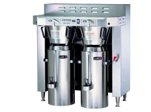 fetco double 3.0 gallon thermal coffee brewer cbs-62h-c62146
