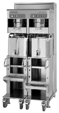 fetco dual 6.0 gallon coffee brewer with casters cbs-72ac-c72048
