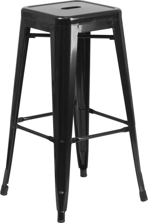 Flash Furniture Black Metal Bar Stool  CH-31320-30-BK-GG