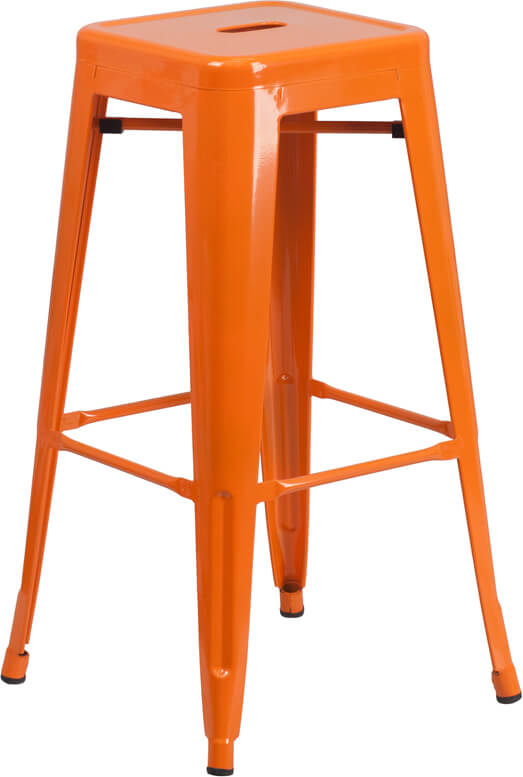 Flash Furniture Orange Metal Bar Stool  CH-31320-30-OR-GG