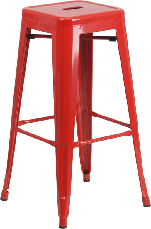 Flash Furniture Red Metal Bar Stool  CH-31320-30-RED-GG