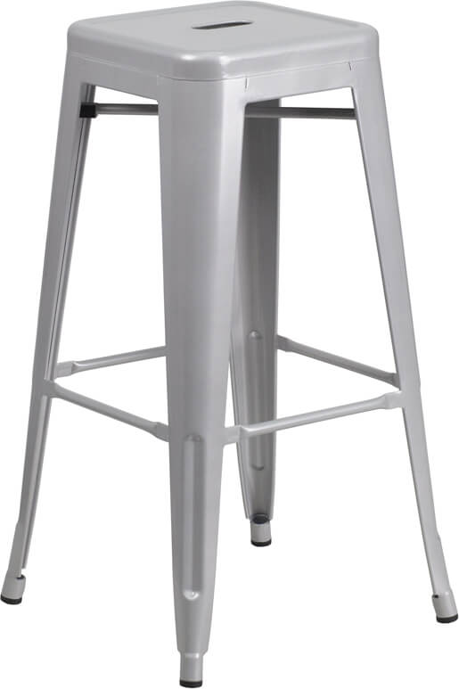 Flash Furniture Silver Metal Bar Stool  CH-31320-30-SIL-GG
