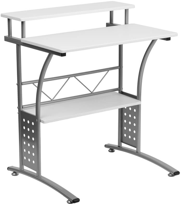 Flash Furniture White computer desk  NAN-CLIFTON-WH-GG