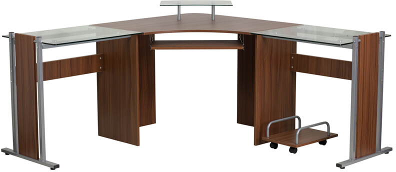 Flash Furniture Laminate Desk with CPU cart  NAN-WK-105-GG