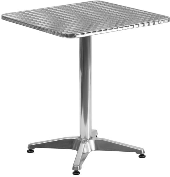 Flash Furniture Square Aluminum Table and Base  TLH-053-1-GG