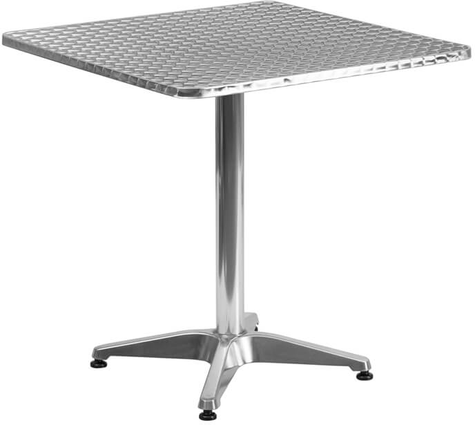 Flash Furniture Square Aluminum Table and Base  TLH-053-2-GG