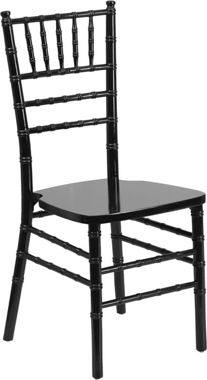 Flash Furniture Black Wood Chiavari Chair  XS-BLACK-GG