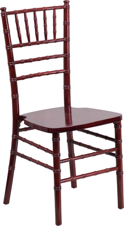 Flash Furniture Mahogany Wood Chiavari Chair  XS-MAHOGANY-GG