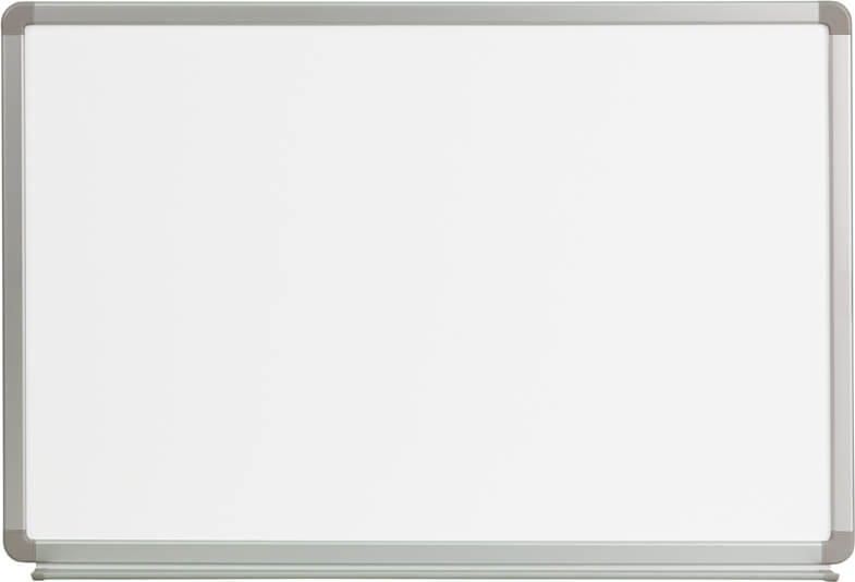 Flash Furniture 3ft W x 2ft H marker board  YU-60X90-WHITE-GG