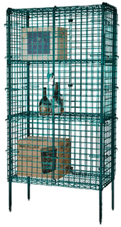 Focus Foodservice Security Cage Complete Stationary Kit FSSEC24603GN