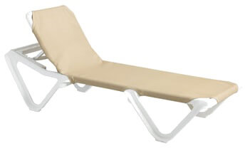 Grosfillex Nautical Sling Chaise Lounge - US910103 (2 pack)  sc 1 st  RestaurantTory.com : grosfillex chaise lounge chairs - Sectionals, Sofas & Couches