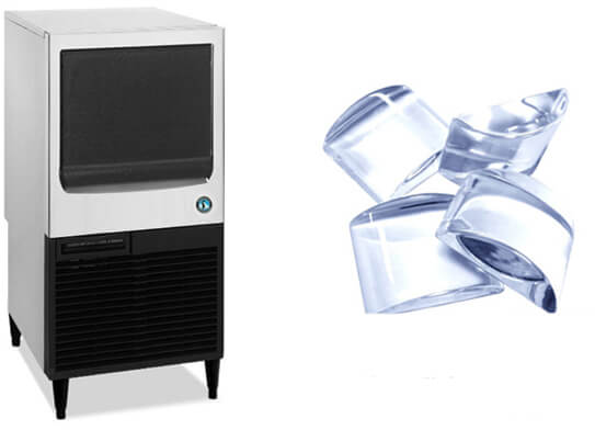hoshizaki commercial ice machine self-contained crescent cubers with built-in storage bins km-61bah