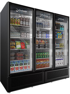 Imbera Prime 72 cft Commercial Refrigerator Triple Glass Door Display #G372