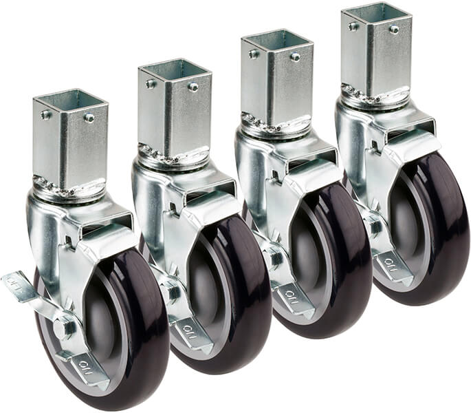 Krowne 1-1/4 Square Post Shelving Caster 5 Wheel (Set of 4) 28-174S
