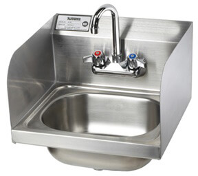 Krowne 16 Hand Sink with Side Splashes, Low Lead Compliant HS-26L
