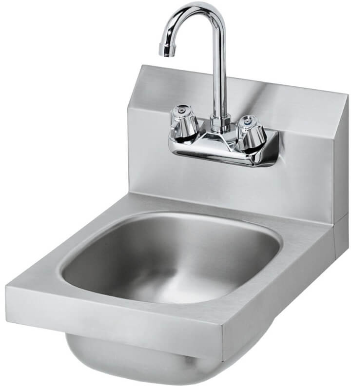 Krowne 12 Wide Space Saver Hand Sink, Low Lead Compliant HS-9L