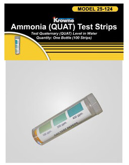 Krowne QAC Test Strips Bag P25-124