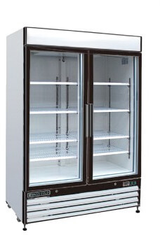 Maxximum 48 CFT Double Glass Door Merchandiser Refrigerator MXM2-48R