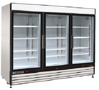 MAXXIMUM 72 CFT Triple Glass Door Merchandiser Freezer MXM3-72FHC