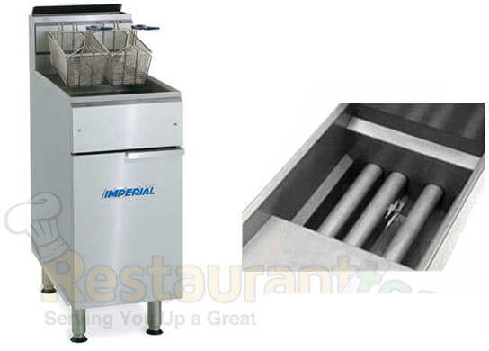 Imperial Fryer Gas-Tube Fired Stainless Steel Fry Pot Gas- IFS-40