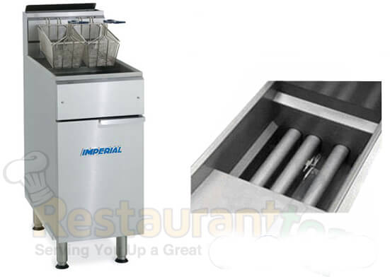 Imperial Fryer Gas-Tube Fired Stainless Steel Fry Pot Gas- IFS-50