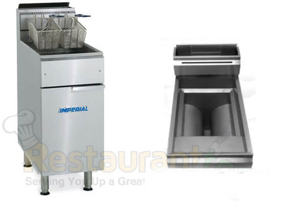 Imperial Commercial Fryer Open Pot Gas Model IFS-50-OP