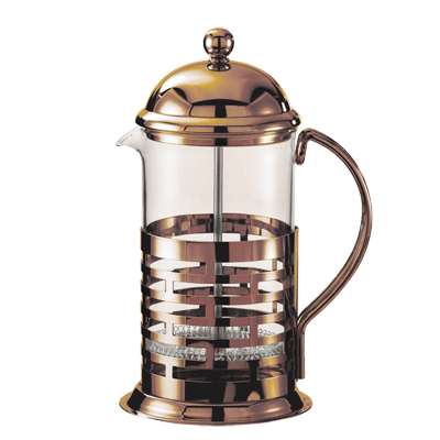 Service Ideas Brick French Coffee Press T877BRNZ