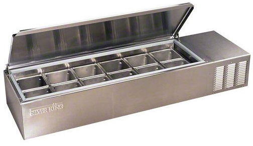 "Silver King Refrigerated Counter Prep Table 57"" 12 Pan Model SKPS12-C1"