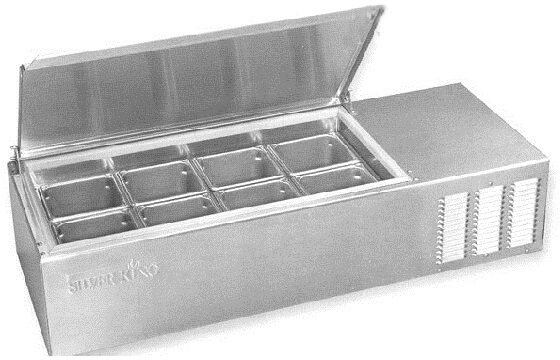 "Silver King Refrigerated Counter Prep Table 43"" 8 Pan Model SKPS8-C1"