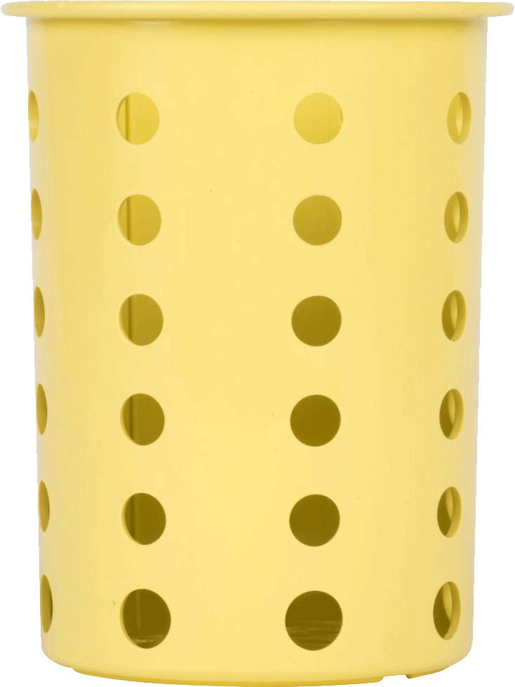 Steril-Sil Silverware Cylinder, Yellow - RP-25-YELLOW