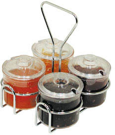 Update International Condiment Jar Holder - CJ-74H