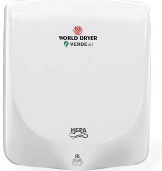 World Dryer 110-240V, Surface Mounted Hand Dryer Q-974A